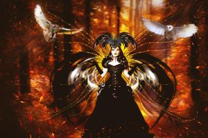 The Queen Angel of the Autumn Wood by annemaria48