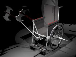 The wheel chair from hell by black-blur