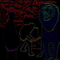Text Art- stand up to bullies by TidalWavesStudio