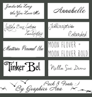 PackFonts.Zip by GraphicsAna