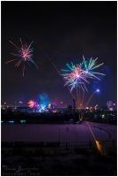 New Year's Eve Fireworks in Vienna by Argolith