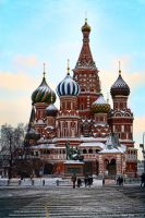 Saint Basil's Cathedral II by Raphael-Ben-Dor