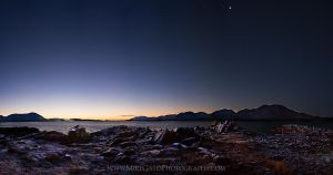 Cold pre-dawn at Mountain Point by Muskeg