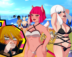 Beach Party by willow-wishes
