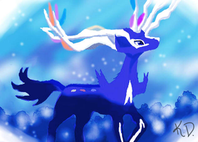 First Attempt 3DS Colors :Xerneas: by kiraradaisuki