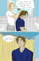 Bucky's Hair Cut by jack-o-lantern12