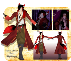 .:Motme May:.Koujaku as Foxy the pirate by Emy-san