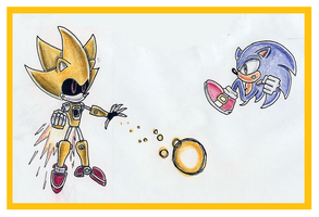 Super Metal Sonic Attacking by funkyjeremi