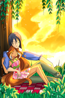 LALC: At sunset by florainbloom