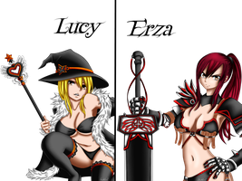 Lucy and Erza by F4bL3-2