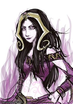 Liliana Vess Scribble by sketchy-doodles