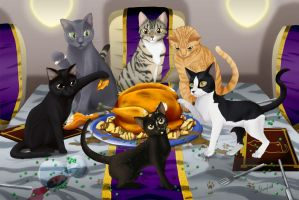 The Kitty Banquet by Shaami