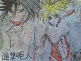 Shingeki no Kyojin- Female and Rogue Titan by xXHeartlessXSoulXx