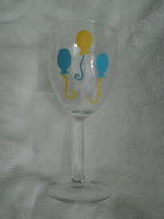 Hand Painted Pinkie Pie Wine Glass by AppieJackie