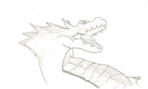 Sketch 2: lagiacrus by amauric