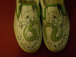 Slytherin :: Shoes by FallingThroughGlass