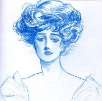 Gibson girl by Sylent-Anpu-Phantom
