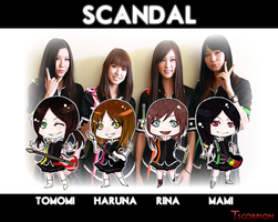 SCANDAL Chibi by Tscorpion