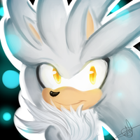 Silver the hedgehog + speedpaint by Blue-Martinies
