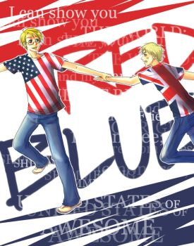 Hetalia: US+UK for kanae by kirui