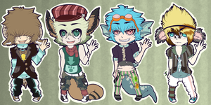 : Kemonomimi Adoptables Batch 01 - CLOSED : by Homohelvetti