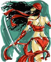 Elektra Digital Sketch by hyperjack08