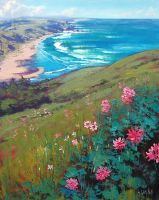 coastal wildflowers by artsaus