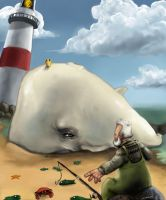 The fisherman meets the whale by Kredepops