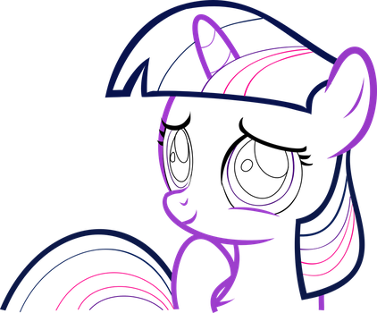 Filly Twi (line vector) by SlimCappy