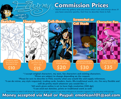 Commission Prices by Elixirmy