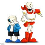 Undertale Sans and Papyrus by Shadowlux100