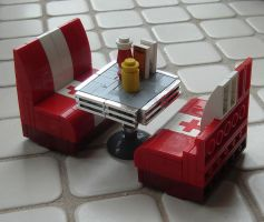 LEGO diner booth table scrap by Mister-oo7