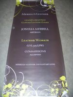 business cards and banners by MerrillsLeather