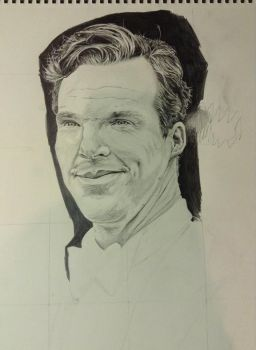 Old Big-Scale Drawing of Benedict Cumberbatch by ElisabethLangton