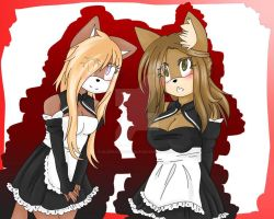 .:Request:. Alina and Jenny as maids by JennyTheVampy