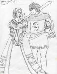Sir Knight and Maiden by peace101zaira