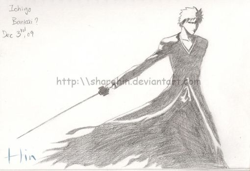 Ichigo in Bankai by sharehin