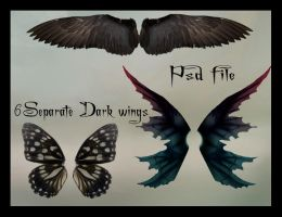 psd dark wings set by Adaae-stock