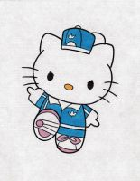 Adidas Hello Kitty Tattoo Design by NarcissusTattoos