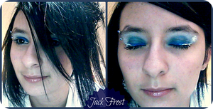 Jack Frost inspired eye makeup by MutePoetess