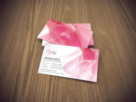 Cherry blossom business card by Lemongraphic