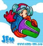jem and her snowboard by kina