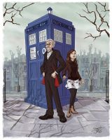 12 and Clara in London by DionysiaJones