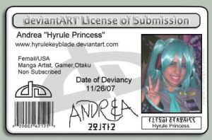My Deviant ID Card by Hyrulekeyblade