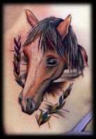 Horse portrait with a spin... by Hopeandglorytattoo