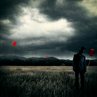 The Man with the Red Balloon by milkandblue