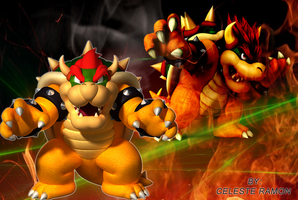 Mario Bros: Bowser wallpaper by celtakerthebest