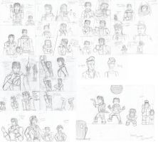 Talespin human forms and other sketches 3 by Danitheangeldevil