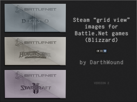 Steam images for Blizzard Games (D3/SC2/HS) V2 by DarthWound