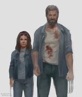 Logan and Laura by RinRinDaishi